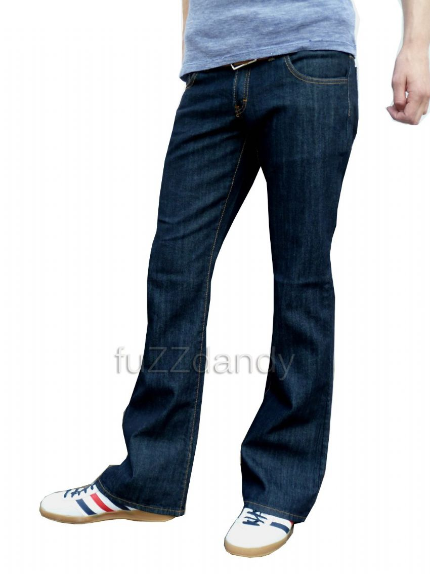 """Cochise"" BOOTCUT DENIM - Boot Cut Jeans Trousers (INDIGO BLUE DENIM)"
